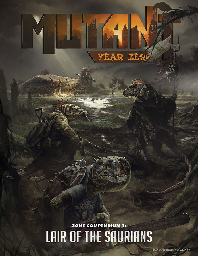 Mutant: Year Zero Rpg - Lair Of The Saurians Box Front