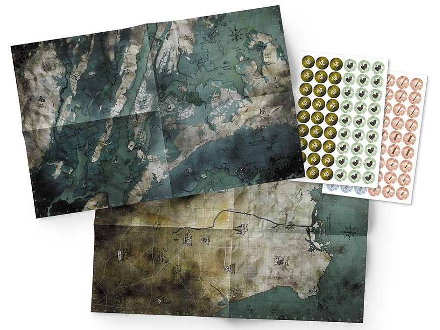 Mutant: Year Zero - Maps & Markers Pack Box Front