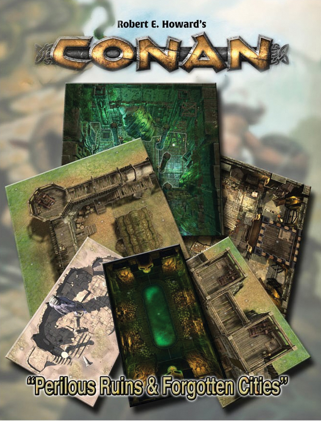 Conan: Perilous Ruins & Forgotten Cities Geography Tile Set Box Front