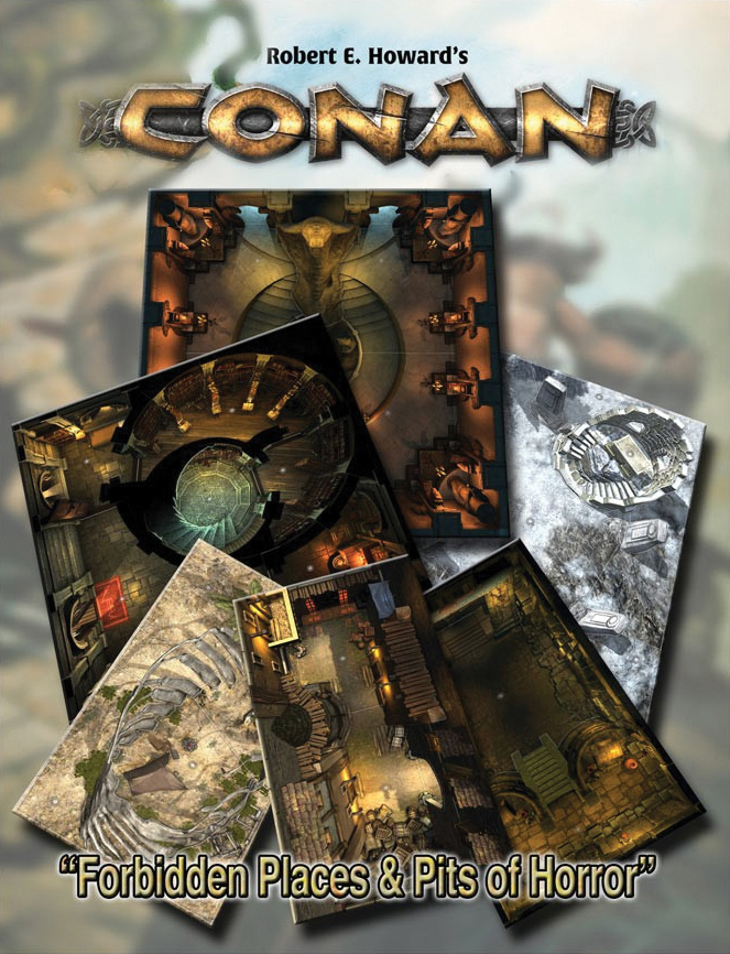 Conan: Forbidden Places & Pits Of Horror Dens Of Iniquity & Streets Of Terror Box Front