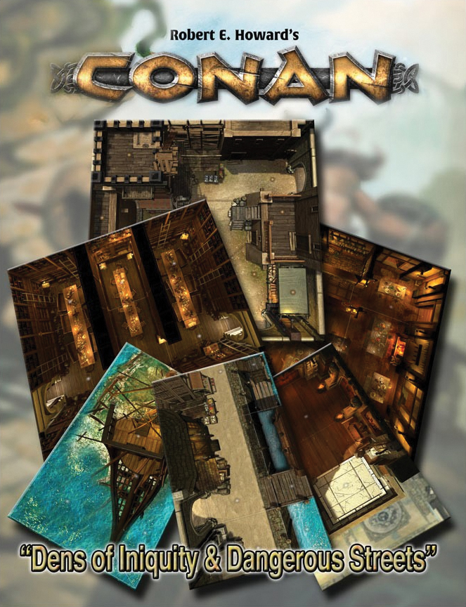 Conan: Dens Of Iniquity & Streets Of Terror Geography Tile Set Box Front