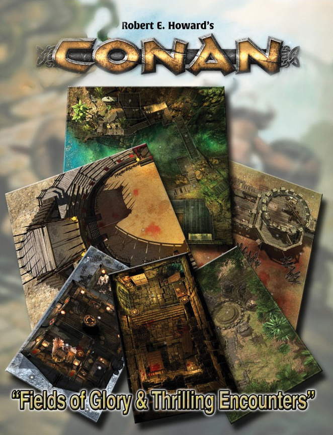 Conan: Forbidden Fields Of Glory & Thrilling Encounters Geography Tile Set Box Front