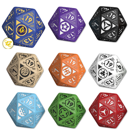 Infinity Rpg: Dice Set - Nomad (7) Box Front