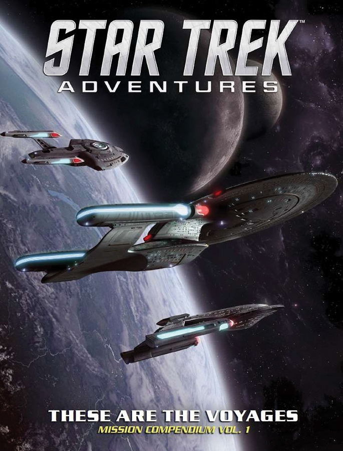 Star Trek Adventures Rpg: These Are The Voyages, Vol. 1 Box Front