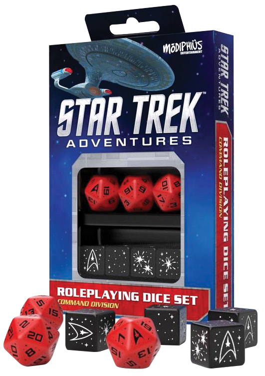 Star Trek Adventures Rpg: Command Red Dice Set Box Front