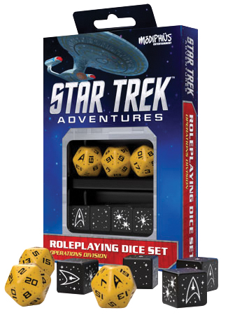 Star Trek Adventures Rpg: Operations Gold Dice Set Box Front