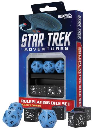 Star Trek Adventures Rpg: Sciences Blue Dice Set Box Front