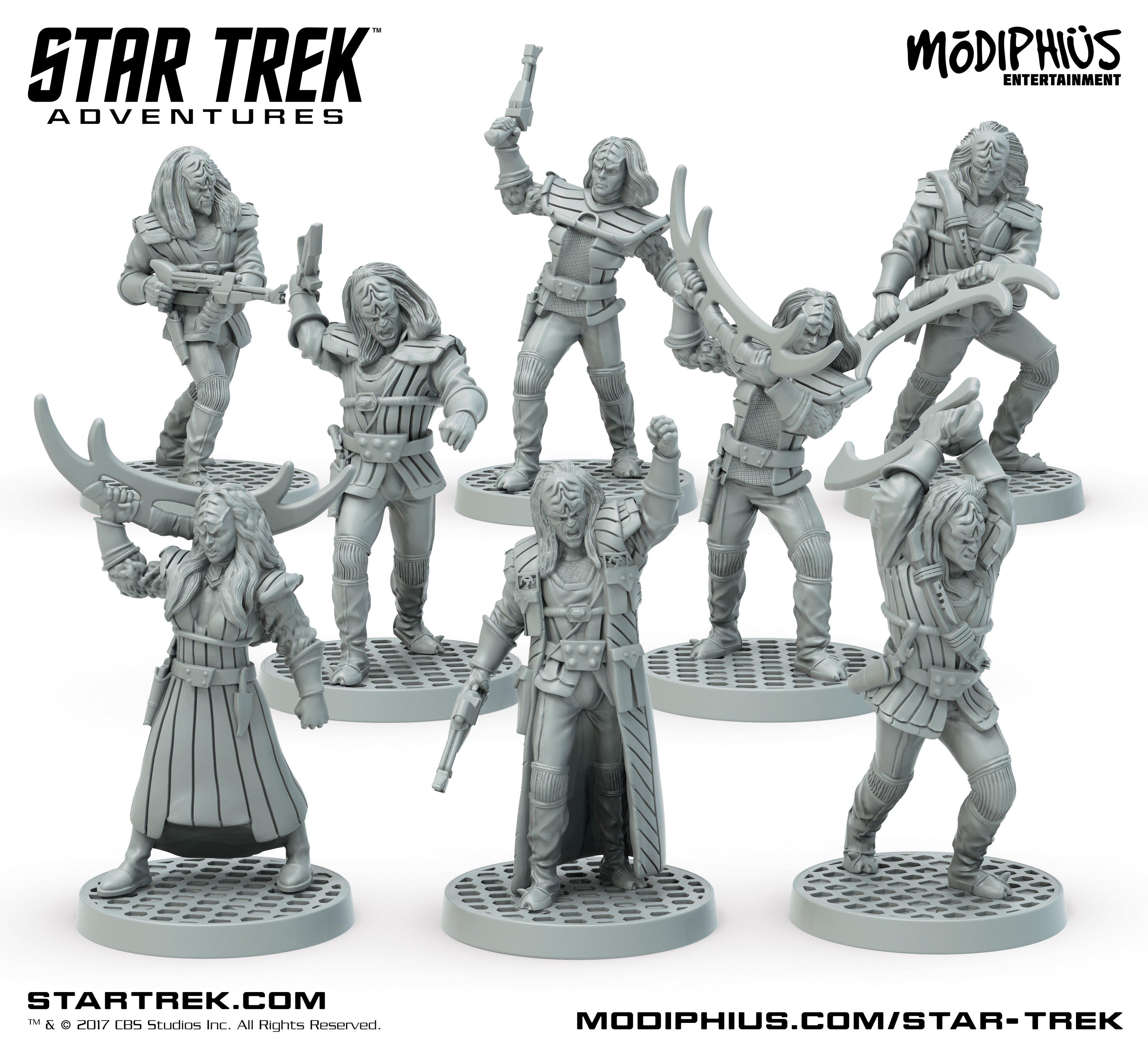 Star Trek Adventures Rpg: Klingon Warband Team Minis Box Set Box Front