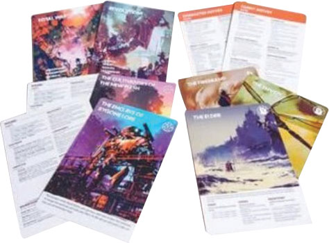 Legacy: Life Among The Ruins - Handout Sheets Game Box