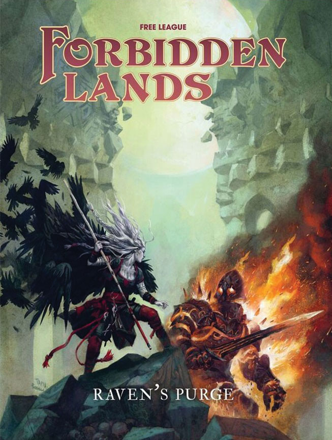 Forbidden Lands Rpg: Raven`s Purge Game Box