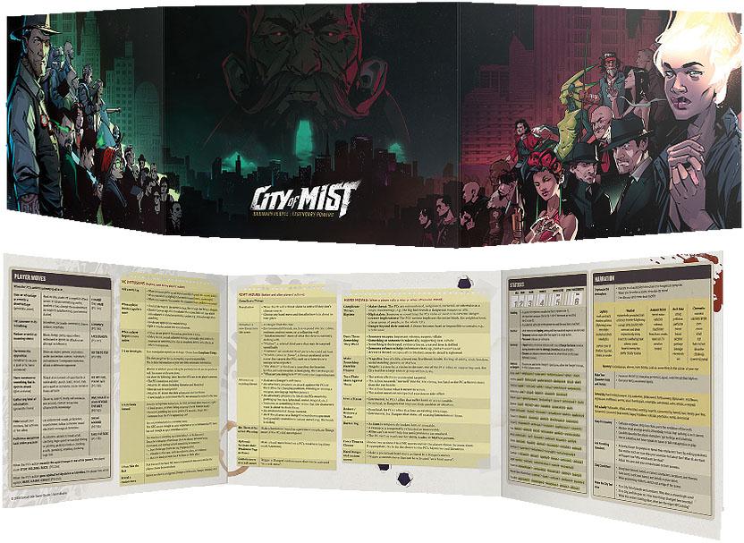 City Of Mist Rpg: Master Of Ceremonies Screen Game Box