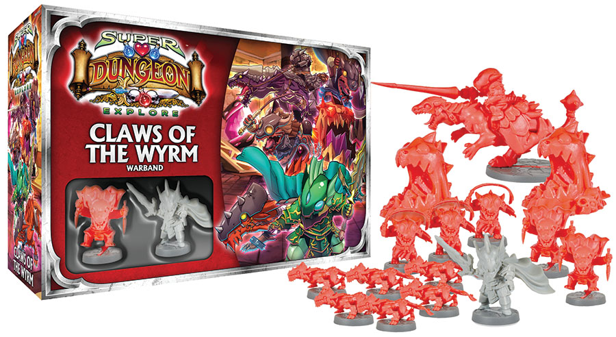 Super Dungeon Explore: Claws Of The Wyrm Warband Box Front