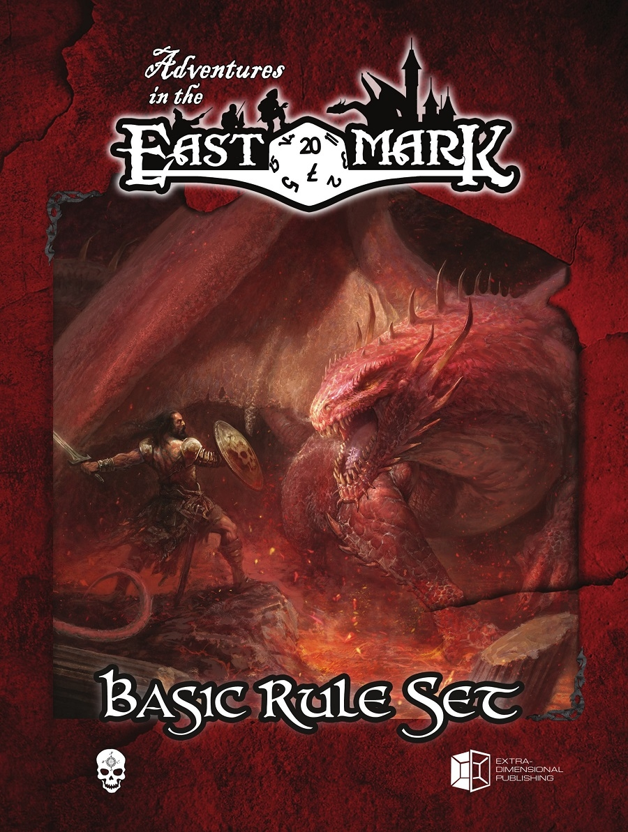 Adventures In The East Mark Rpg: Core Rules Box Set Box Front
