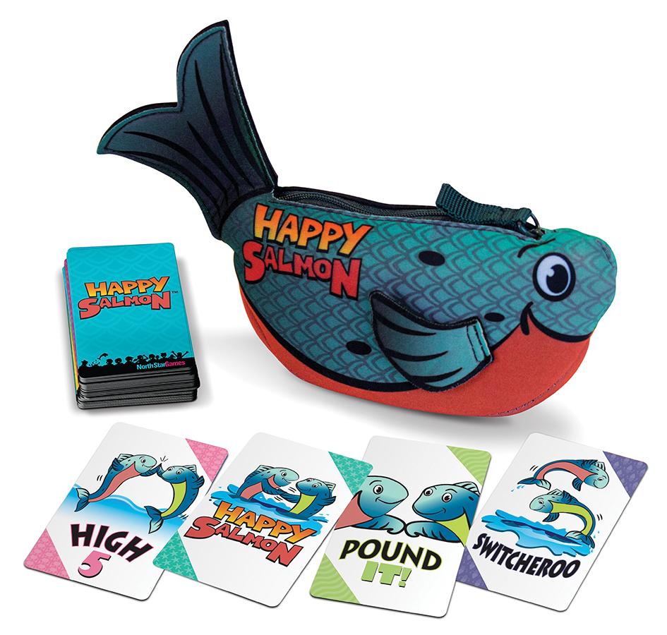 Happy Salmon - Blue (display 4) Box Front