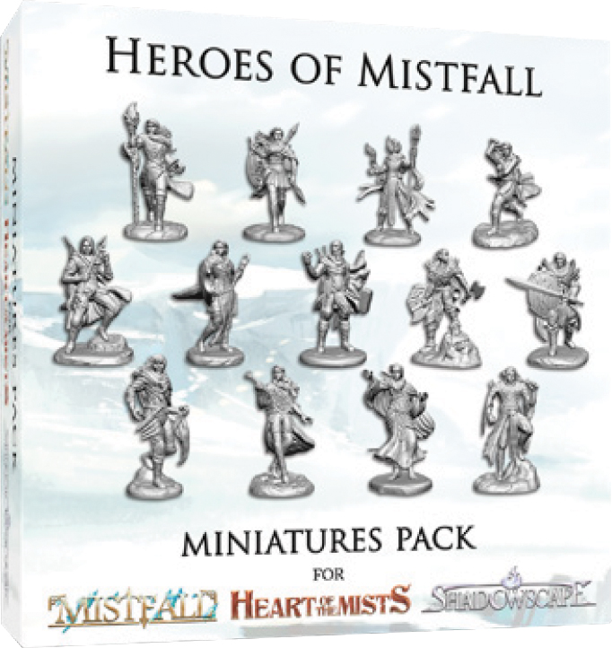 Mistfall: Heroes Of Mistfall Miniatures Pack Box Front