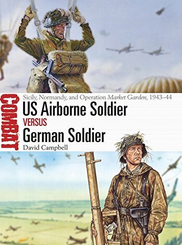 Us Airborne Soldier Vs German Soldier: Sicily, Normandy, Operation Market Garden, 1943-44 Box Front