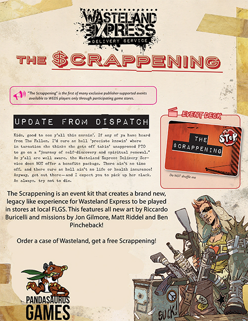 Wasteland Express Delivery Service: The Scrappening Event Deck Case Promo Pr1 Box Front