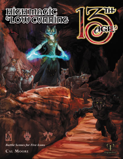 13th Age Rpg: High Cunning & Low Magic Box Front