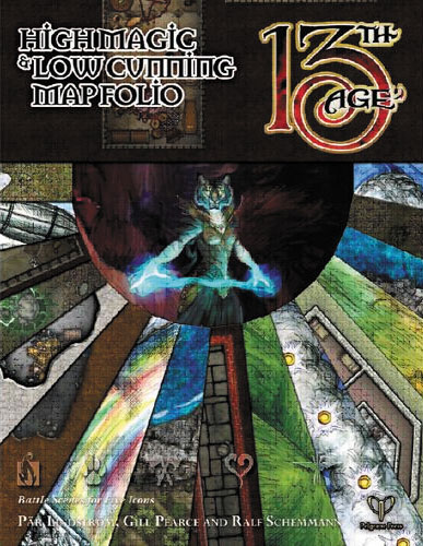 13th Age Rpg: High Cunning & Low Magic Map Folio Box Front