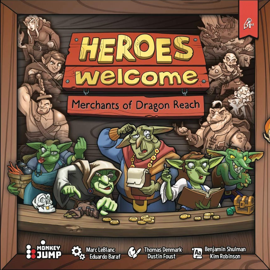 Heroes Welcome: Merchants Of Dragon Reach Game Box
