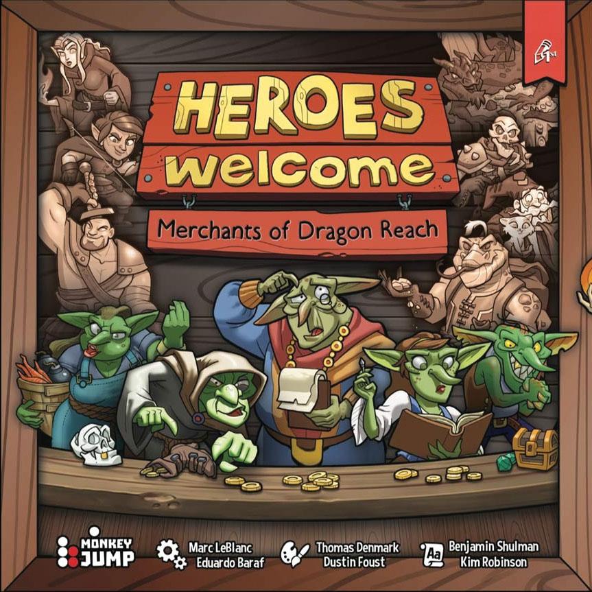 Heroes Welcome: Merchants Of Dragon Reach Game Box