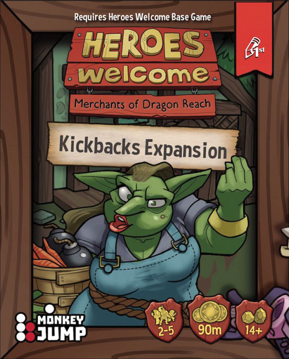 Heroes Welcome: Kickbacks Expansion Game Box