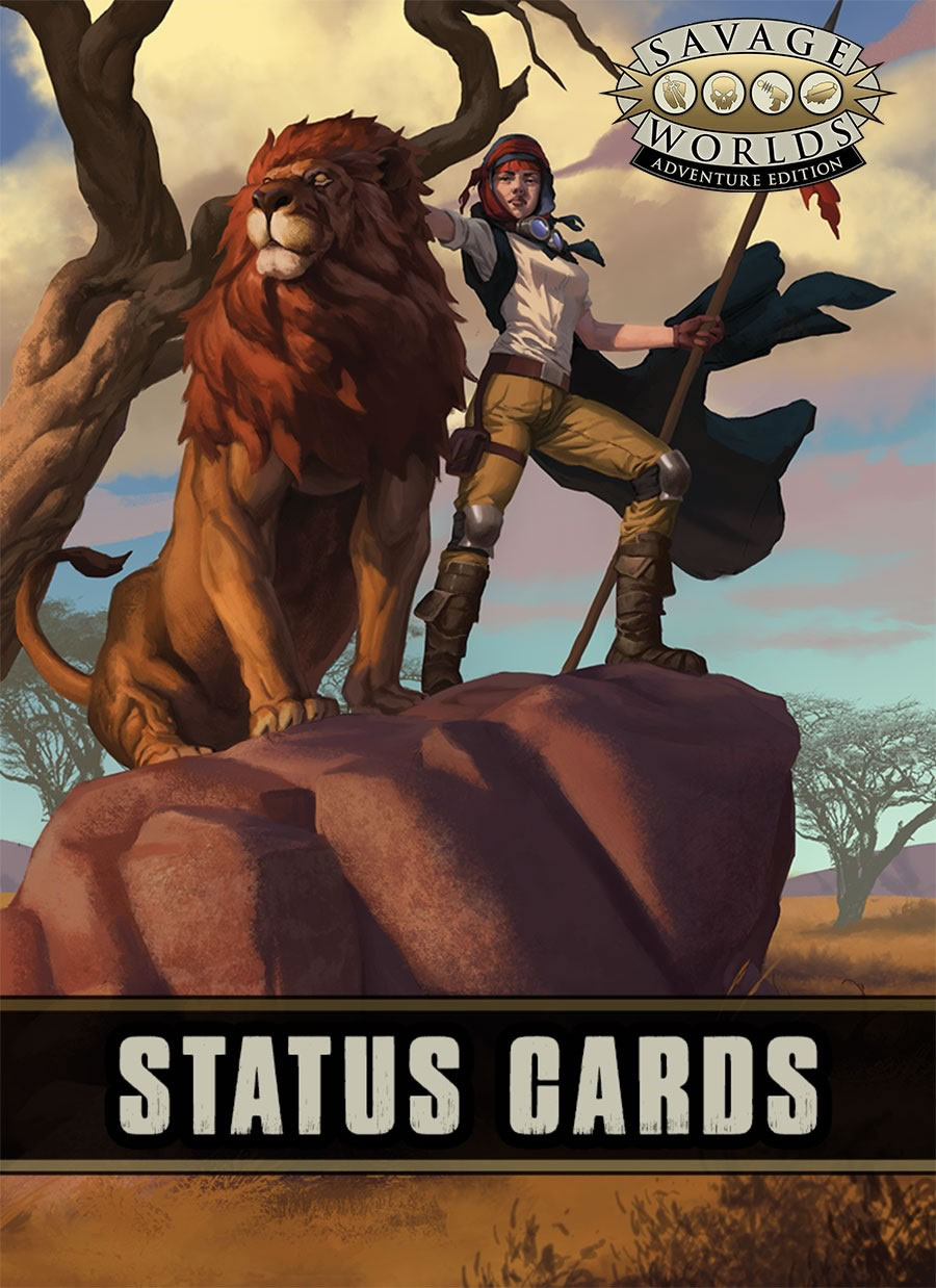 Savage Worlds Rpg: Status Cards Game Box