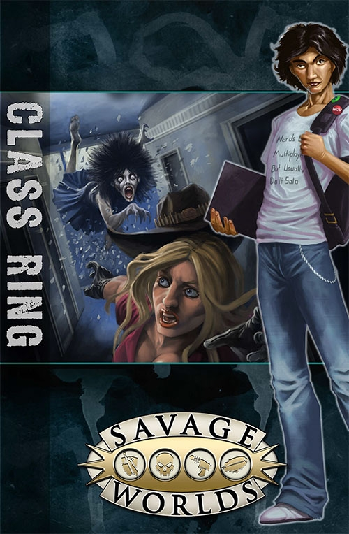 Savage Worlds Rpg: East Texas University - Gm Screen With Class Ring Adventure Box Front