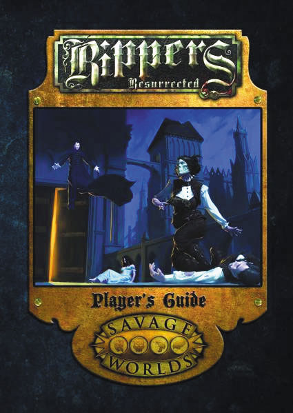Savage Worlds Rpg: Rippers Resurrected - Players Guide (softcover) Box Front
