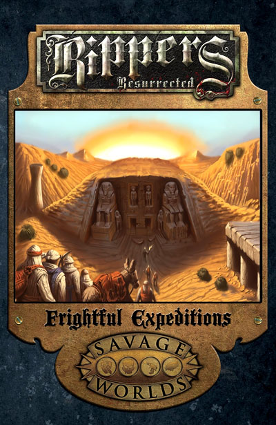Savage Worlds Rpg: Rippers Resurrected - Frightful Expeditions Limited Edition (hardcover) Box Front
