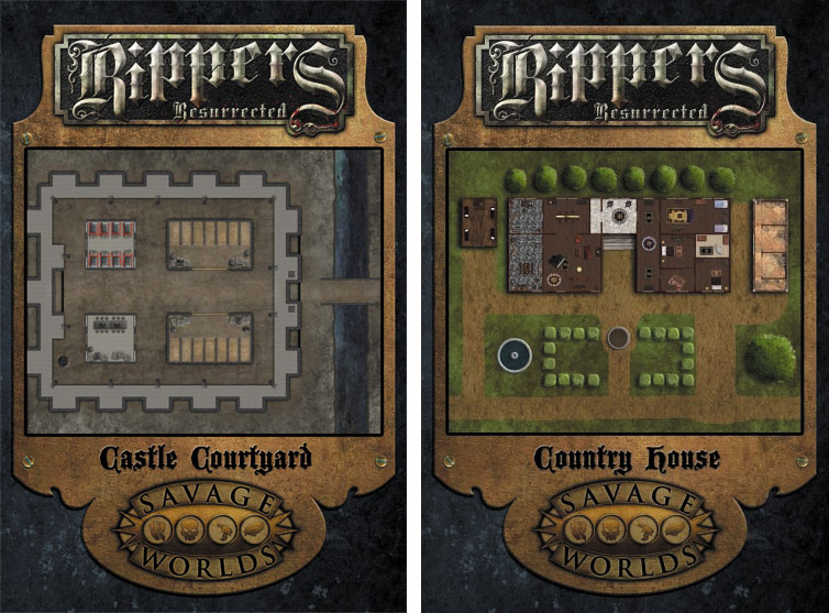 Savage Worlds Rpg: Rippers Resurrected - Map 1: Castle Dracula/country House Box Front