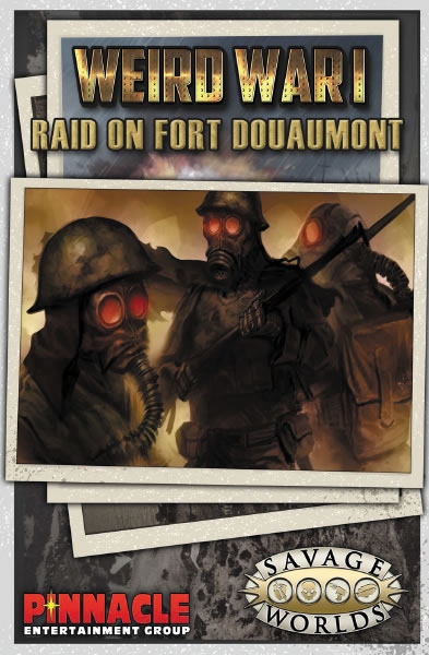 Savage Worlds Rpg: Weird War I Gm Screen With Raid On Fort Douaumont Adventure Box Front