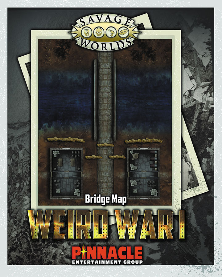 Savage Worlds Rpg: Weird War I Map Set: Bridge/trenches Box Front