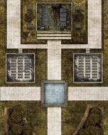 Savage Worlds Rpg: Deadlands Noir - Map Cemetery/crypt Box Front