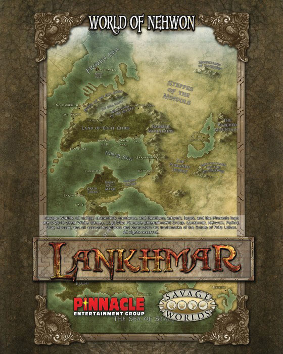 Savage Worlds Rpg: Lankhmar - Poster Map Box Front