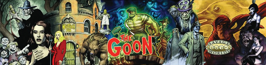 Savage Worlds Rpg: The Goon - Gm Screen With Adventure Box Front
