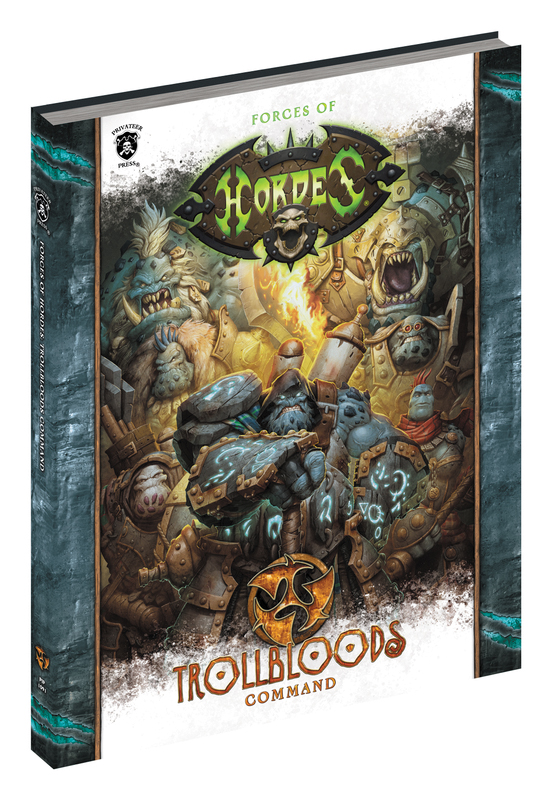 Hordes: Forces Of Hordes - Trollbloods Command (softcover) Box Front