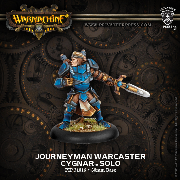 Warmachine: Cygnar Journeyman Warcaster Solo (white Metal) Box Front