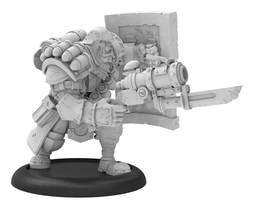 Warmachine: Cygnar Trench Buster Solo (resin And White Metal) Box Front