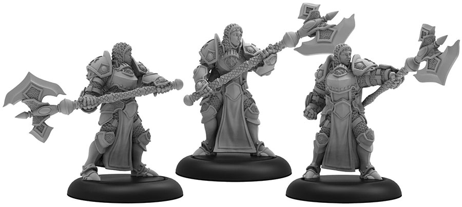 Warmachine: The Protectorate Of Menoth Initiates Of The Order Of The Wall Unit (resin And White Metal) Game Box