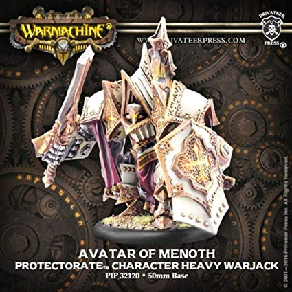Warmachine: The Protectorate Of Menoth Avatar Of Menoth Character Heavy Warjack (resin And White Metal Resculpt)