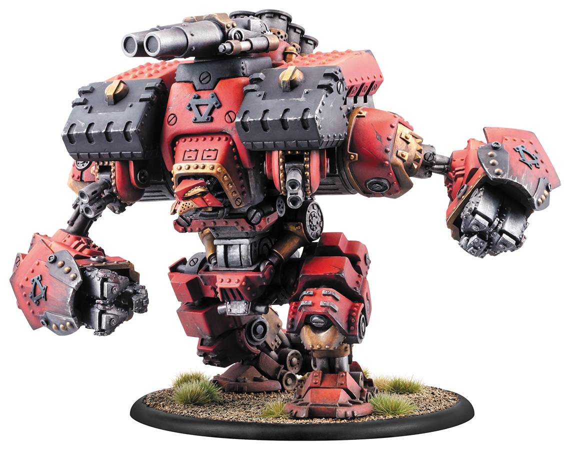 Warmachine: Khador Conquest/victor Colossal Warjack (plastic Kit) Box Front