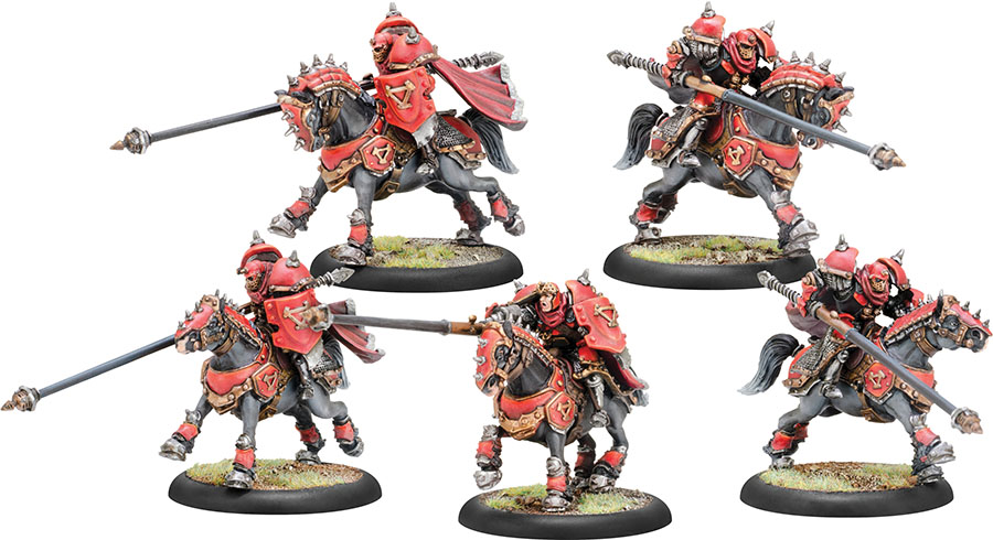 Warmachine: Khador Iron Fang Uhlans Cavalry Unit (5)(resin And White Metal) Box Front