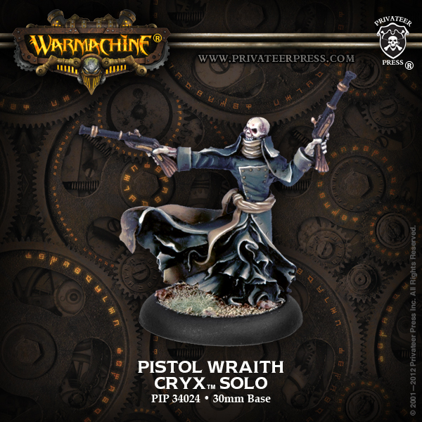 Warmachine: Cryx Pistol Wraith Solo (white Metal) Box Front