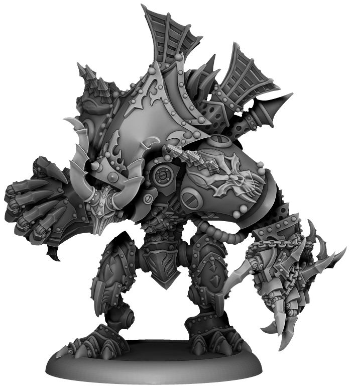 Warmachine: Cryx Deathjack Character Helljack (resin And White Metal) Box Front