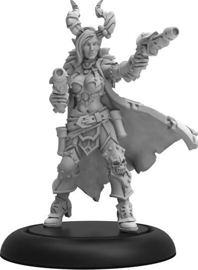 Warmachine: Cryx Severa Blacktide Character Solo (white Metal) Box Front