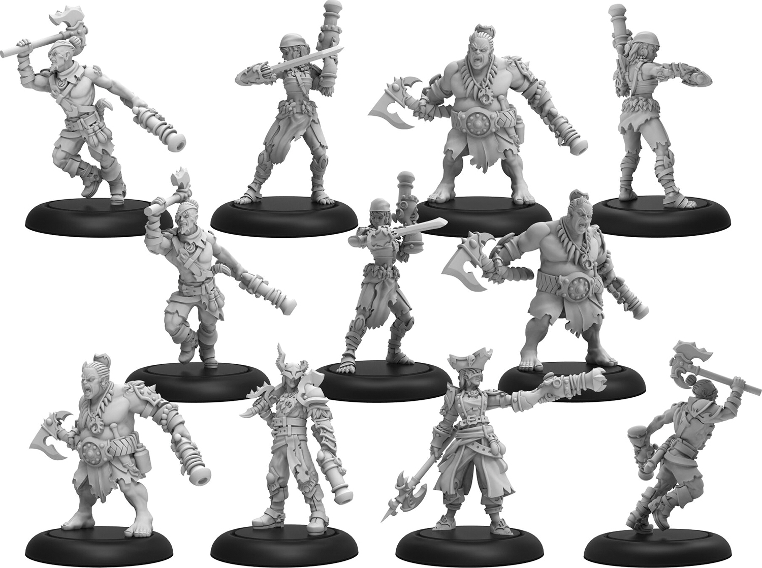 Warmachine: Cryx Sharde Pirates Unit (11) (resin And White Metal) Box Front