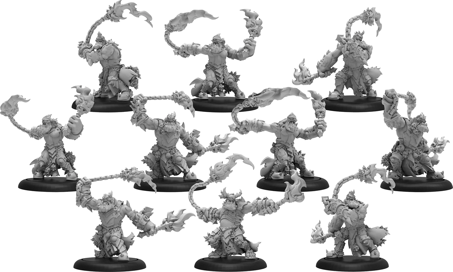 Warmachine: Cryx Blighted Trollkin Marauders Unit (10) (resin And White Metal) Box Front