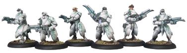 Warmachine: Retribution Of Scyrah Dawnguard Invictors Unit (white Metal) Box Front