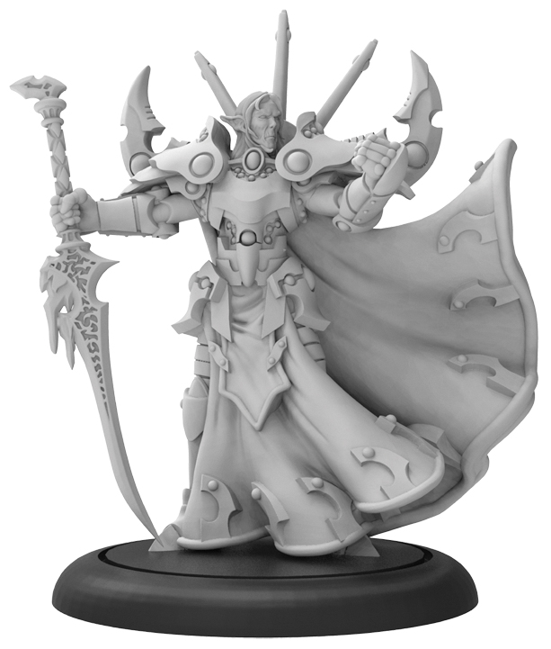 Warmachine: Retribution Of Scyrah Lord Gyrrshyld, The Forgiven Warcaster (resin And White Metal) Box Front